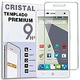 REY Protector de Pantalla para ZTE Blade L3 Cristal Vidrio Templado Premium