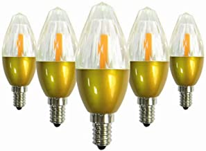 Led Bulbs, LED Light Bulb, 5-Pack, E12 5W 50-Watt Equivalent, AC85-265V Non-Dimmable Bulbs for Home Lighting led lights (C...