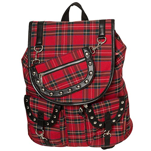 Banned Rucksack - Yamy Tartan Backpack