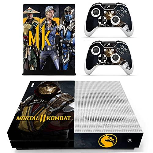 Xbox one S Skin (Mortal Kombat), Anime Xbox one S Controller Skins, Xbox one S Skins para consola, Xbox one S Vinilo calcomanía protectora de la piel de la cubierta para el juego completo