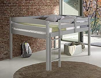 Concord Junior Loft Bed Twin Grey