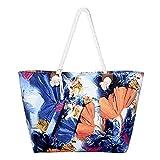 DonDon Grande borsa da spiaggia idrorepellente con cerniera Borsa a tracolla Shopper Aquarelle World