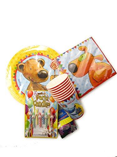 Party set Les Sept Copains 38 pieces l'anniversaire des enfants (avec tasses, plaques et serviettes)