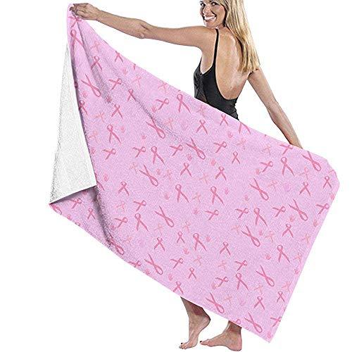 N \ A Toallas de baño con patrón de conciencia sobre el cáncer de mama, toallas de baño altamente absorbentes de 52 pulgadas x 32 pulgadas, toallas de playa unisex