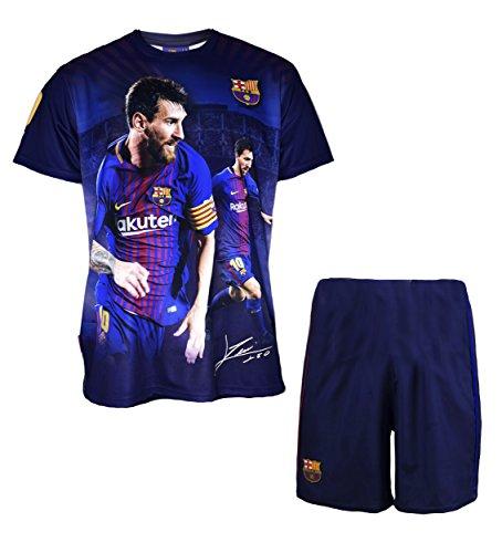 FC Barcelona Jungen-Trikot und Kurze Hose, Lionel Messi, Nr. 10, offizielle Kollektion, Kindergröße - 14 Jahre