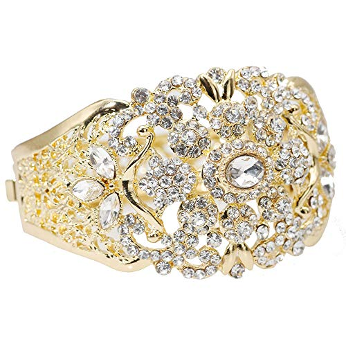 Armband,Indische Hochzeit Armreif Für Frauen Farbe Gold Dubai Damen Blume Manschette Schmuck Marokko Ethnischen Armband