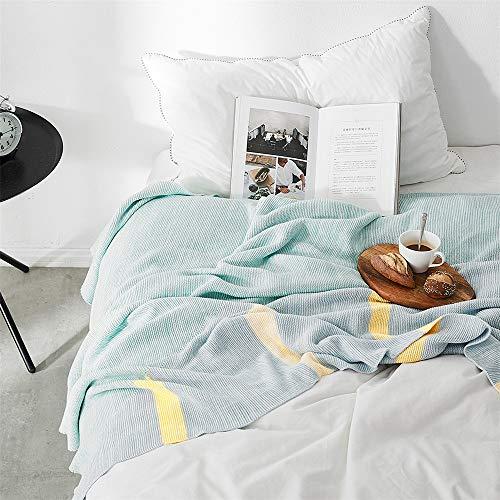 Couverture Throw Living lit Chambre Coton Lancers Sofa Canapé lit décoratif Couverture tricotée Léger Doux canapé Confortable lit Chaise Blanket (Color : B, Size : 130x160cm)