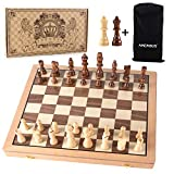 Best Chess Sets - AMEROUS Magnetic Wooden Chess Set, 15 Inches Handmade Review