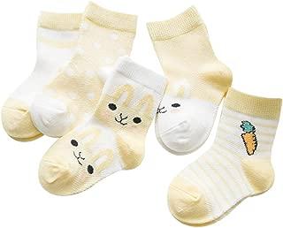 YICANG Calze al ginocchio con fiocco in pizzo per bambini Calze con volant per principesse Calzini in cotone per neonato da 0 a 8 anni
