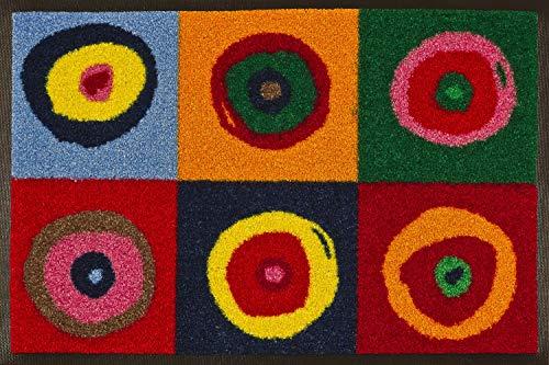 Wash+Dry Fußmatte, Fibres synthétiques, Multicolore, 40x60 cm