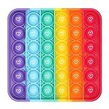 Dásīlín Push and Pop Bubble Fidget Toy, Juguete sensorial para aliviar, Juguete Antiestres Educativo para aliviar el estrés, Necesidades Especiales silenciosas Aula para niños (Rainbow)