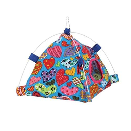 S A-Other Ppet Bird Hamster Tent Cage Guinea Pig Rabbit Chinchilla Cute Pattern House for Small Animals Parrot Cage Decor Accessories P