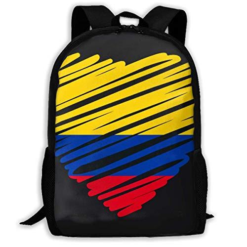 Zaino Scuola Bandiera Colombiana Zaino Da Viaggio Ideale Zaino Da Scuola Impermeabile Zaino Bambini Stampa Zaini Casual Per Uomini Donne, Ragazzi E Ragazze