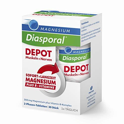 Magnesium-Diasporal: DEPOT Muskeln + Nerven: Sofort- und Langzeit Magnesium plus Vitamin B-Komplex, 30 Tabletten