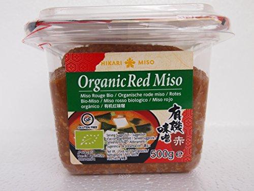 Hikari Red Miso Pasta orgánica 500 g, pasta de semillas de soja orgánicas