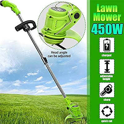 Framy Adjustable Electric Lawn Mower Irrigation Lawn Mower Rechargeable Lithium Battery Lawn Mower Double Control Switch 85-123CM