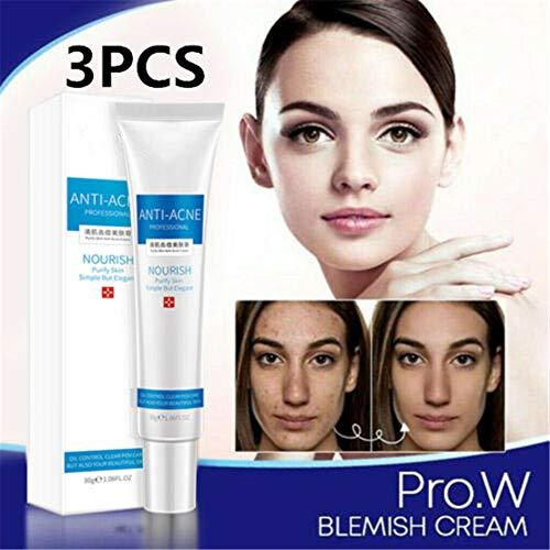 PMJAdd8s108 Pro.w Blemish Cream, Corrector De Manchas Oscuras para La Cara, Gel para Eliminar Cicatrices De Acné, Crema para Aclarar La Piel, Hidratar, Hidratar La Piel (3 Piezas)