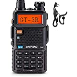 BAOFENG GT-5R Upgraded Version Long Range, Dual Band 144-148MHz & 420-450MHz Two Way Radio for Adults, FCC Compliant Walkie Talkies Rechargeable, Portable Ham Radio, VOX with Earpiece, Support Chirp