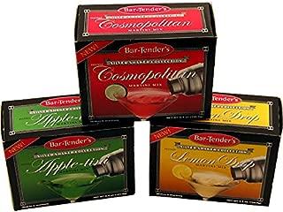 Bar-Tenders Cocktail Mixes - Set of 3 Boxes: Cosmopolitan, Appletini, Lemon Drop Martini