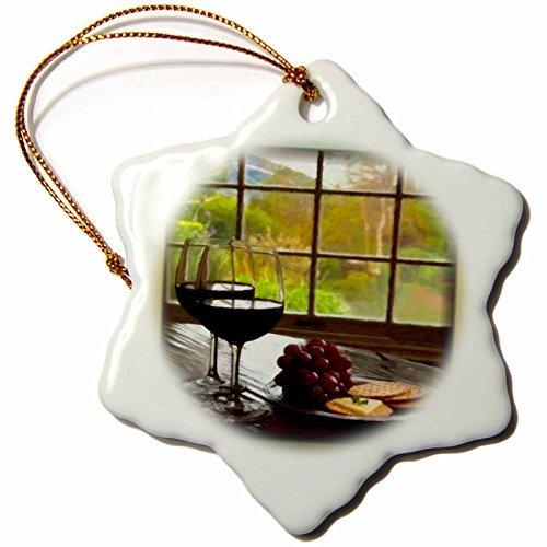 cwb2jcwb2jcwb2j 3-Inch Porcelain Snowflake Decorative Hanging Ornament, Napa Valley In Painting-