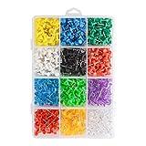 TOYANDONA 600 Pcs Multicolore Punaise Carte Réutilisable Carte Photo Punaise pour Lécole de Bureau à Domicile