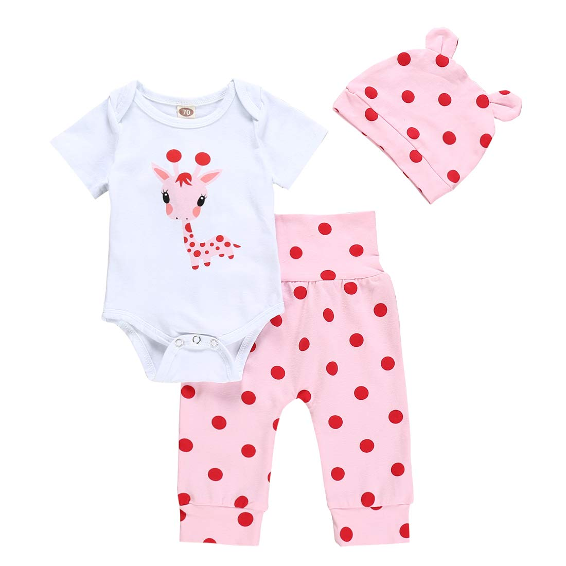 Giraffe baby outfit and hat leggings Pink Giraffe giraffe bodysuit