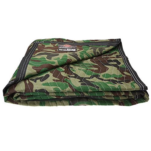 US Cargo Control Camo Moving Blanket | 5.4 pounds each (65 pounds per dozen) | 72 inch x 80 inch | Camo Furniture Pad | 1 Blanket