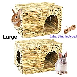 Hand Crafted Extra Large Grass House for Rabbits