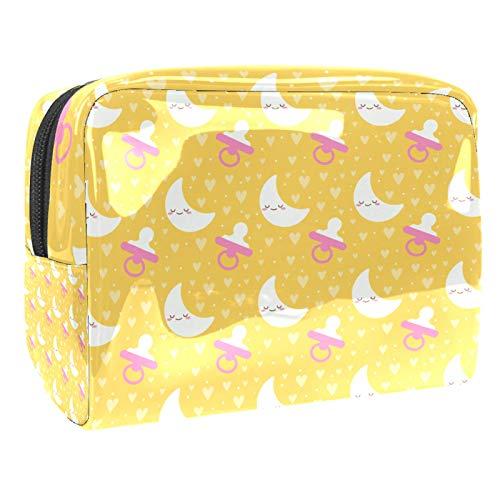 Bolsa de maquillaje portátil con cremallera bolsa de aseo de viaje para mujeres práctico almacenamiento cosmético bolsa bebé luna pezón patrón