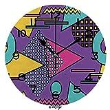 Zseeda 25cm (9.8') Redondo Reloj de Pared Silencioso No Tick Tack Ruido Reloj de Pared Bauhaus