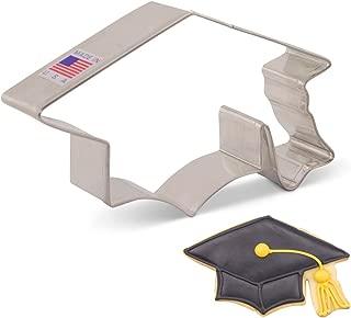 Ann Clark Cookie Cutters Graduation Cap/Hat/Mortar Board Cookie Cutter, 4.5