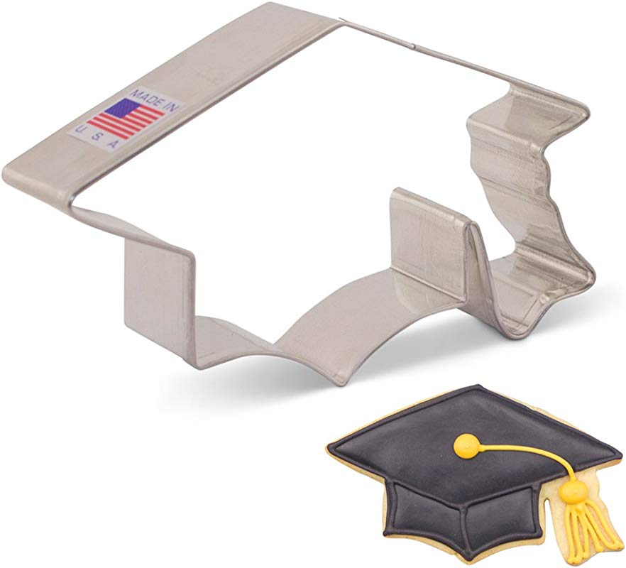 Ann Clark Cookie Cutters Graduation Cap Hat Mortar Board Cookie Cutter 4 5