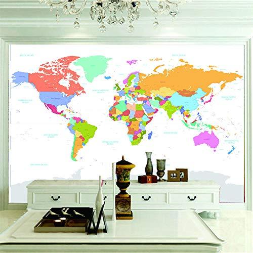 3D Tapete Kreative Weltkarte Hd Wallpaper Kunst Wohnzimmer Schlafzimmer Wand Dekoration Tv Foto Tapeten.250X175Cm (Breite X Höhe)