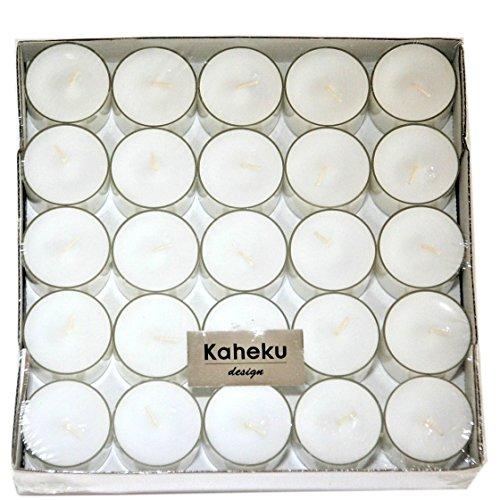Kaheku Teelilchter LYS transparente Kunststoff-Hülle 50 Stück Vorratspackung