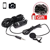 BOYA by-M1 Lavalier Microphone for iPhone with Free Windshield for Smartphones Mobile Phone DSLR Cameras PC Interviewing Vlogging Livestreaming