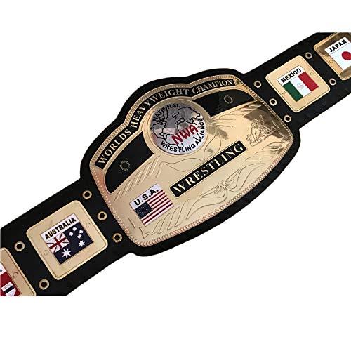 Vitalusa NWA National Worlds Heavyweight Wrestling Championship Belt Adult Size NWA Wrestling Belt Titel Belt