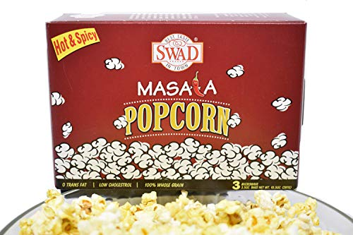 Best Buy! Spicy Popcorn Hot and Spicy Masala Popcorn 3 Microwaveable Packets in 1 Box