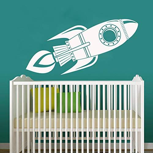 wZUN Kreative Rakete Dekoration Wandaufkleber für Kinderzimmer Vinyl Wandbild Tapete Poster Schlafzimmer Aufkleber 57X72cm