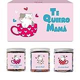 SMARTY BOX Caja Regalo Día de la Madre Chuches Original Caramelos y Gominolas para la Mejor Mamá del Mundo con Frases, Cumpleaños, Santo Golosinas sin Gluten, Fabricado en España