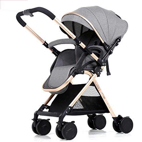 Buy Discount PLDDY Standard 3-in-1 Stroller High Landscape Portable Folding Bidirectional 4-Wheel Sh...