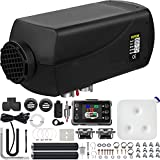 Happybuy 5KW Diesel Air Heater 12V Diesel Parking Heater Double Mufflers 5KW Diesel Heater with LCD Thermostat for RV Bus Trailer Motorhome and Boats