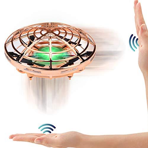 SPECOOL Fliegendes Spielzeug UFO Ball Fliegende Untertasse Mini Drohne Handsteuerung Helikopter Infrarot Induktions Flugzeug LED Quadrocopter