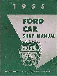 1955 Ford Car & Thunderbird Repair Shop Manual Reprint, 5 1/2 x 8 inches