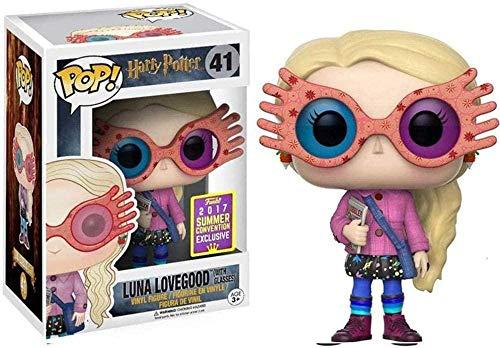 JANBLICA Pop Vinyle Pop A-Générique! Luna Lovegood Luna avec Lunettes Vinyl Figure Décoration Modèle Q Version- # 41-# 41