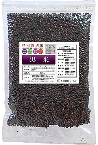 アウトレット 黒米【玄米 農薬不使用栽培】600g 再選米 宮城県2020年産