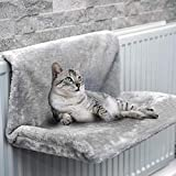 FiNeWaY Cat And Dog Radiator Bed- Warm And Cosy Pet Radiator Bed With A Strong Durable Metal Frame And Comfortable Fleece Cover -Ideal For Cats And Even Small Dogs Or Puppies