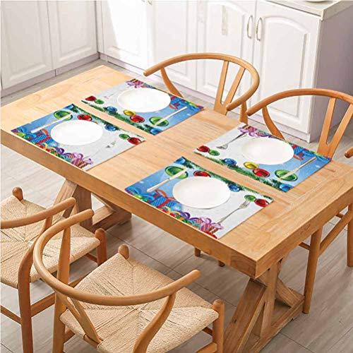 FloraGrantnan - Set di 6 sottobicchieri per tavolo da pranzo, decorazione natalizia colorata a sorpresa