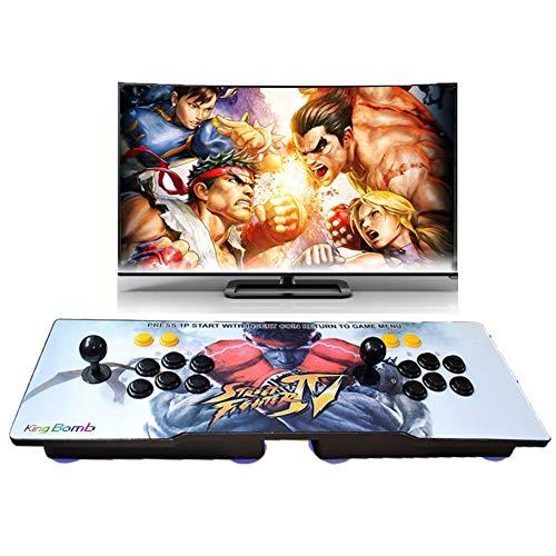Pandora's Box 5S 1299 en 1 Console de jeux d'arcade TV Jeu de jeux vidéo avec 2 boutons joystick Pièces de bloc d'alimentation Sortie USB VGA HDMI Trois motifs peuvent être sélectionnés (RYU)