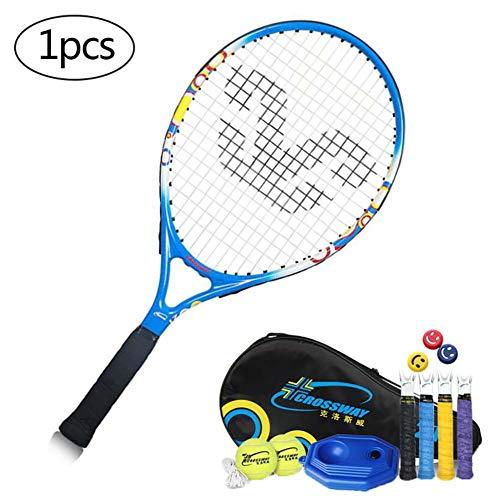 FXQIN Raqueta de Tenis para Niños y Niñas, Set de Tenis para Niños Incluye 2 Pelota de Tenis y Bolsa de Transporte, 21 Pulgadas Raqueta de Tenis para Entrenamiento