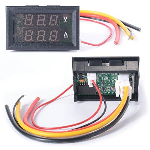 XCSOURCE DC 0-100V Voltmeter Ammmeter 10A Rot Blau LED Paneel Amp Digital Volt Messgerät TE192